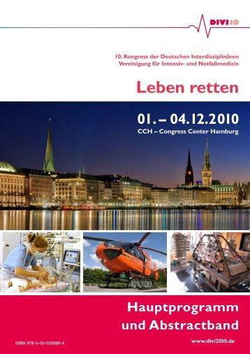 DIVI 2010 Hauptprogramm