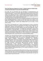 Bericht 7. Arbeitsschutzforum Berlin, 25.09.2012 - Gemeinsame ...