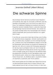 Jeremias Gotthelf Spinne - GIGERs.COM