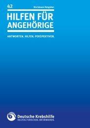 """blaue Ratgeber """"Hilfen für Angehörige"""" - Deutsche Krebshilfe eV"""