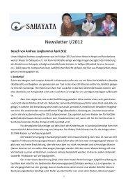 Newsletter I/2012 - SAHAYATA eV