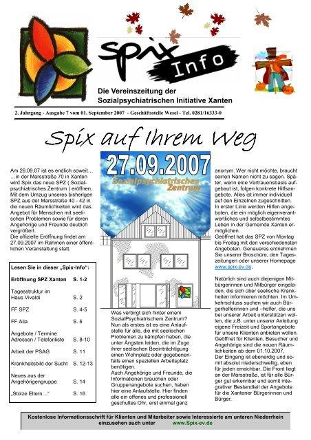 Download Ausgabe September - November 2007 - Spix eV