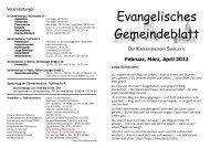 Evangelisches Gemeindeblatt - Evangelisches Kirchspiel Schkeuditz