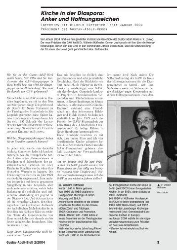 Kirche in der Diaspora: Anker und Hoffnungszeichen - Gustav-Adolf ...