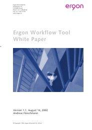 Ergon Workflow Tool White Paper - Ergon Informatik AG