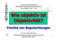 Referatsunterlagen Prof. Dr. med. Peter Keel - Klinik Schützen ...