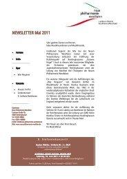 NEWSLETTER Mai 2011 NEWSLETTER Mai 2011 - Neue ...