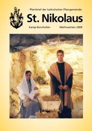 Pfarrbrief Weihnachten 2009 - St. Nikolaus Kamp-Bornhofen