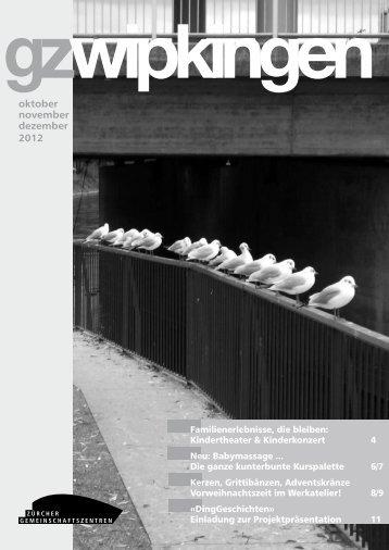 oktober november dezember 2012 - Quartierverein Wipkingen