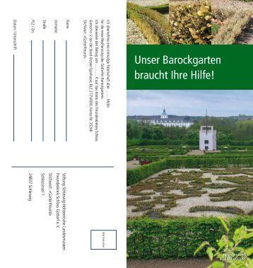 Unser Barockgarten braucht Ihre Hilfe! - Schloss Gottorf