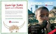 der KINDER WELT Das Spendermagazin von - Save the Children