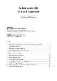 Religionsunterricht in Israels Gegenwart - RPZ Heilsbronn
