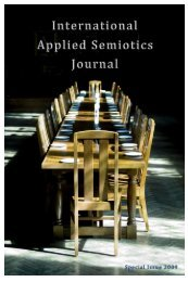 International Applied Semiotics Journal Special 2009 - Academic ...