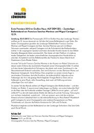 3. Januar 2013: Ballett-Premiere AUF DEM SEIL - Theater Lüneburg