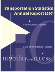 Transportation Statistics Annual Report1997 - Research and ...