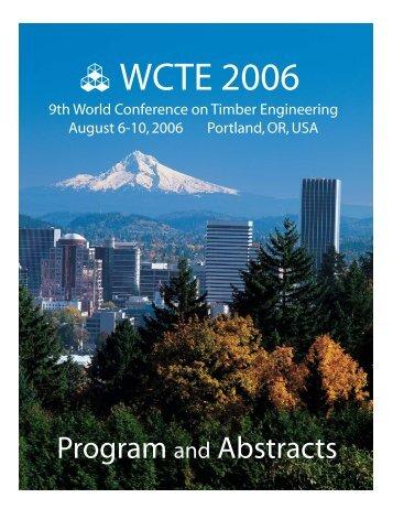 WCTE 2006 - Oregon State University