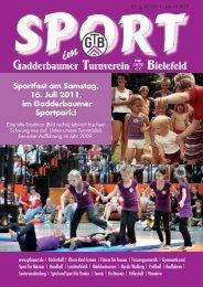 Ausgabe Juli 2011 - Gadderbaumer Turnverein v. 1878 eV Bielefeld