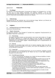 Viskosität - Carl-Engler-Schule - Karlsruhe