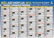 Müllabfuhrplan Axams Dorf 2012 - Gemeinde Axams