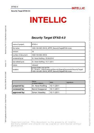Security Target EFAS-4.0 - Bundesamt für Sicherheit in der ...