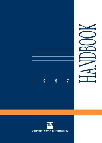 1997 QUT Handbook