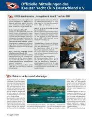Ausgabe 6 / 2008 - Kreuzer Yacht Club Deutschland e.V.