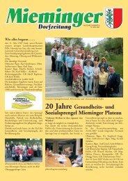 Mieminger Dorfzeitung Mai 2007 - Gemeinde Mieming