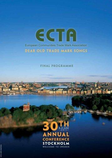 final PROGRAMME - ECTA