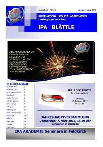 001 Blättle 2012 Ausgabe 01-2013 \(Jänner - März 2012\)