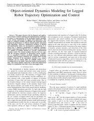 Object-oriented Dynamics Modeling for Legged Robot ... - CiteSeerX