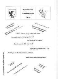 Schwimmen Pressespiegel 2012 - Schwimmen - VfL Waiblingen