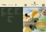 Park Hotel Bremen - Kulinarischer Kalender 2008
