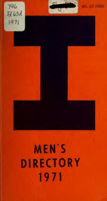 "A directory of ""I"" men - Ideals"