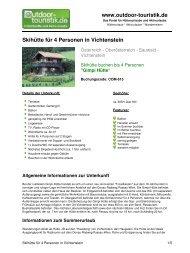 Skihütte für 4 Personen in Vichtenstein - Outdoor-Touristik