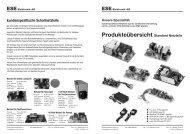 Produkteübersicht Standard Netzteile - bei ESE Elektronik AG