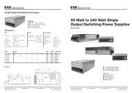 240 Watt Single Output Switching Power Supply - bei ESE Elektronik ...