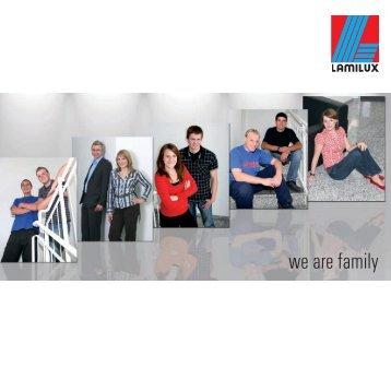 Ausbildungsbroschüre - we are family - lamilux