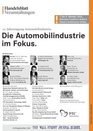 Die Automobilindustrie im Fokus. - Verlagsgruppe Handelsblatt