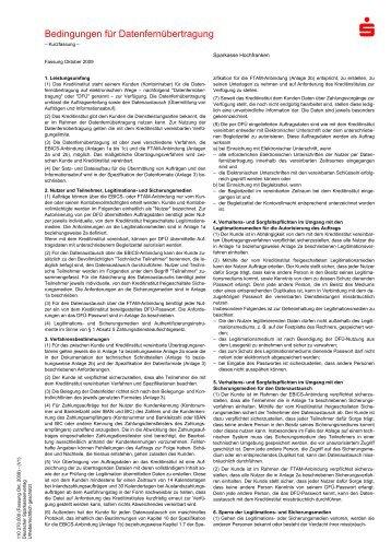 Bedingungen für die Datenfernübertragung - Sparkasse Hochfranken