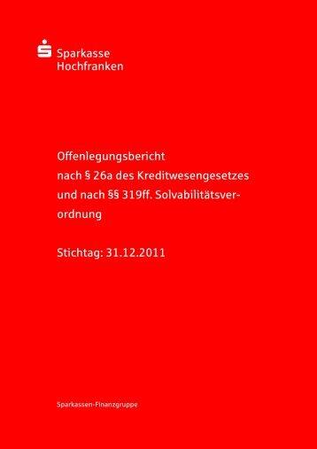 Sparkasse XXX - Sparkasse Hochfranken