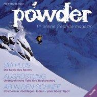 ski plus ausrüstung aB in DEn sCHnEE - powder magazin