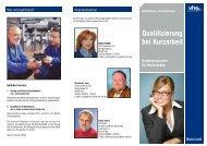 Qualifizierung bei Kurzarbeit - Volkshochschule der Stadt Selb