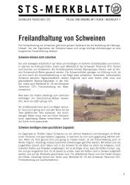 Freilandhaltung von Schweinen - Schweizer Tierschutz STS