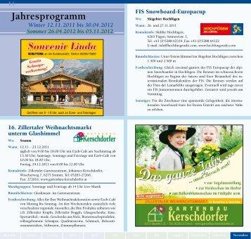 Jahresprogramm - Zillertaler Gäste Service