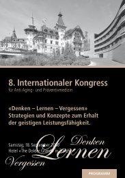 8. Internationaler Kongress - SSAAMP