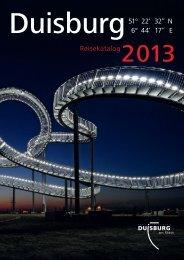 Reisekatalog Duisburg 2013 - Duisburg nonstop