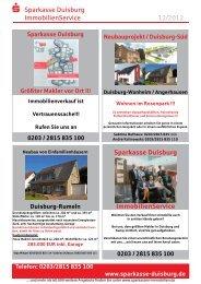 Immobilienzeitung (pdf) - Sparkasse Duisburg
