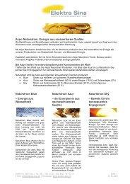 Flyer Naturstrom April 2007 - Elektra Sins