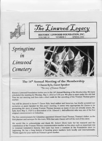 Springtime in Linwood Cemetery - The Historic Linwood Foundation