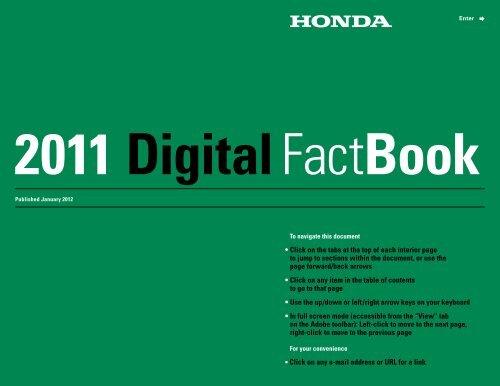 2011 Digital Fact Book - Honda